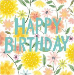 Happy Birthday Flowers Card