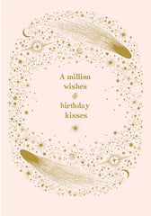 A Million Wishes & Birthday Kisses Card