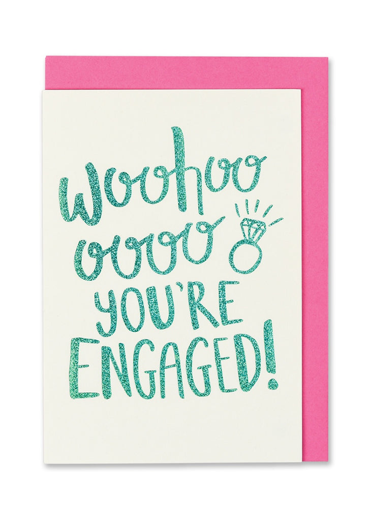 Woo Hoo You're Engaged Card