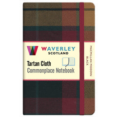 Tartan Cloth Notebook - MacMillan Modern Black