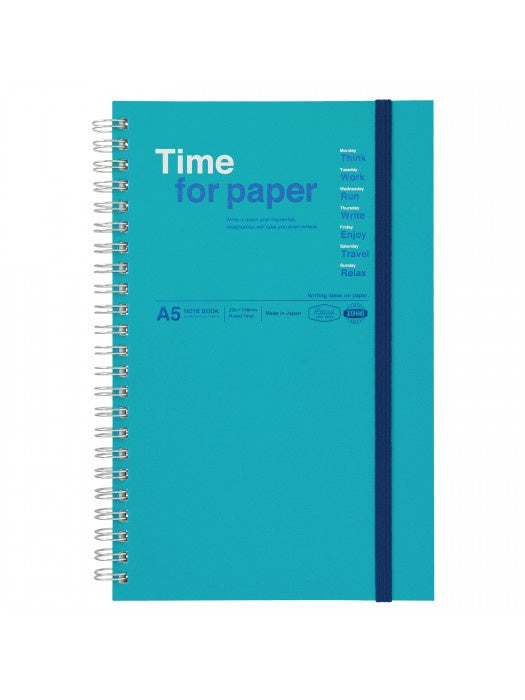 Time for Paper Turquoise Spiral Bound Notebook