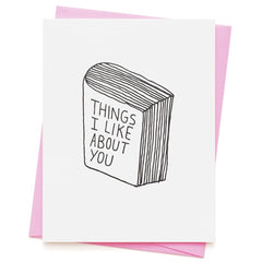 Things I Like About You Valentine's Day Card
