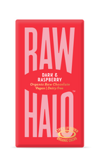Raw Halo Dark & Raspberry Organic Chocolate Bar 35g