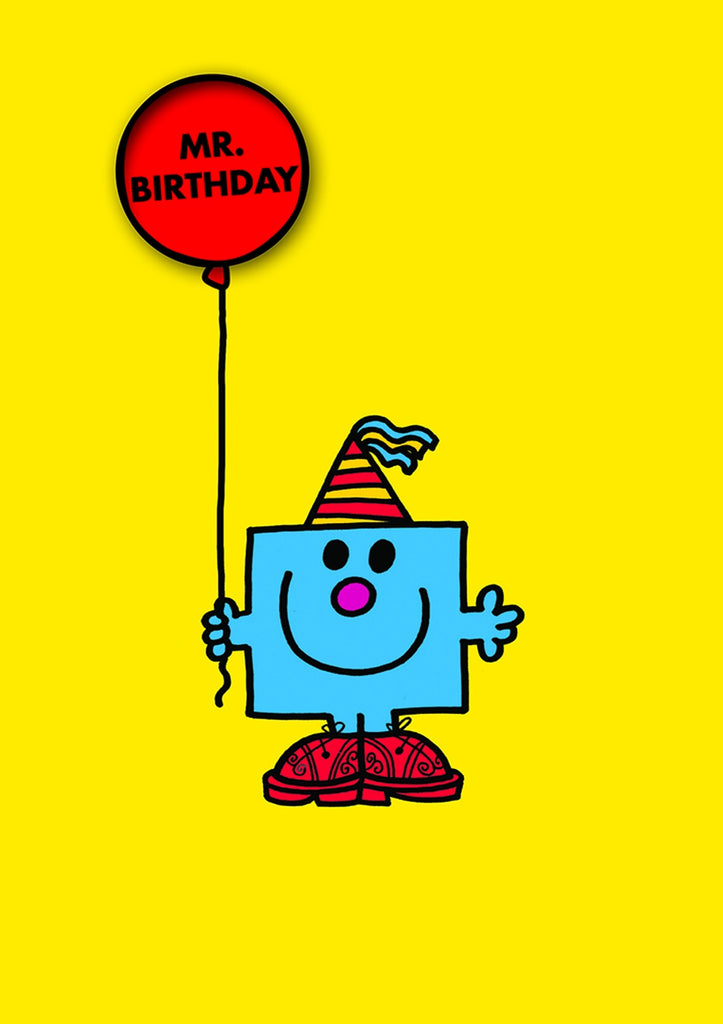 Mr Birthday Card with Badge