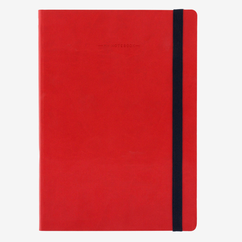 Large Plain Red Notebook