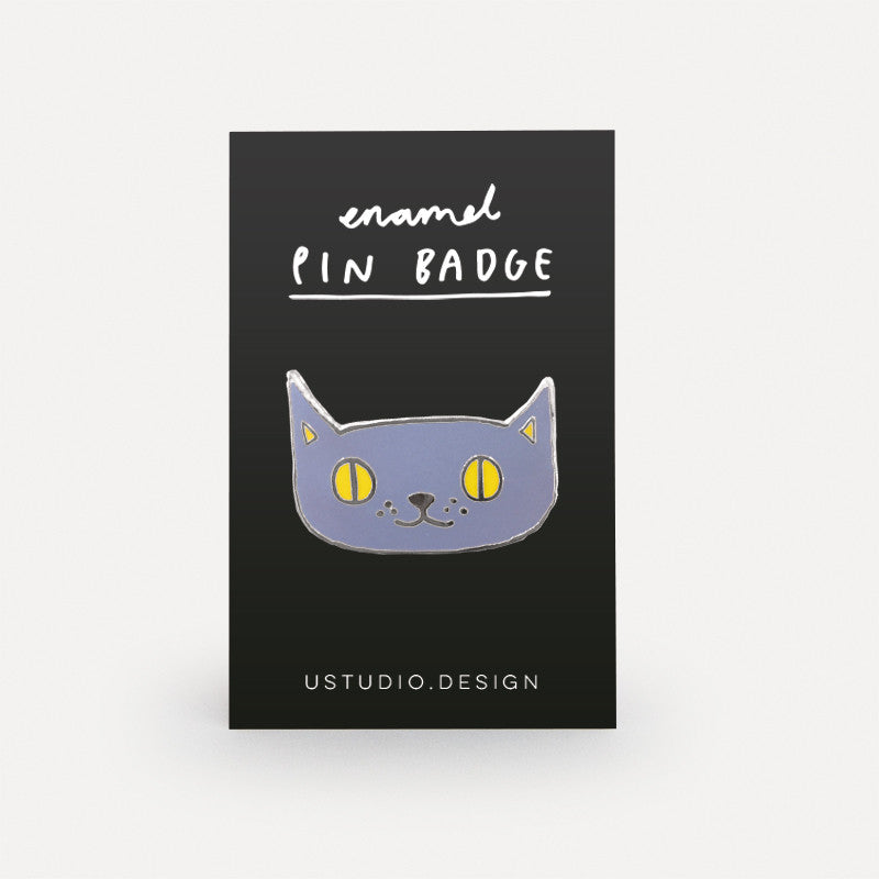 Lilac Cat Pin Badge