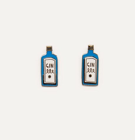 Gin Earrings by Katy Welsh