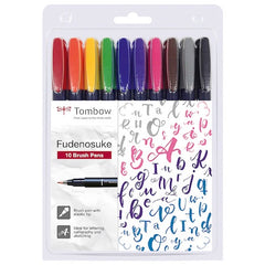 Tombow Fudenosuke Brush Pens set of 10