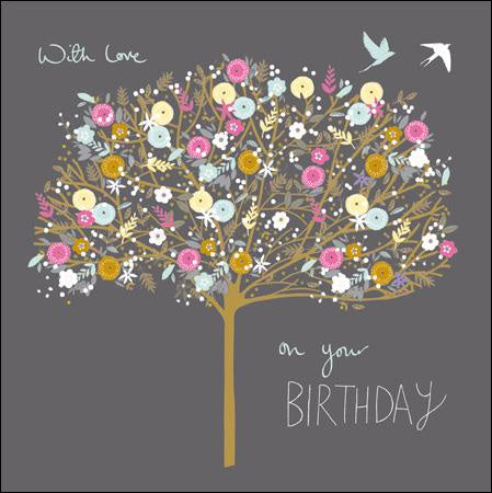Love On Your Birthday Gold Foil Card