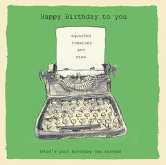 Typewriter Happy Birthday Card