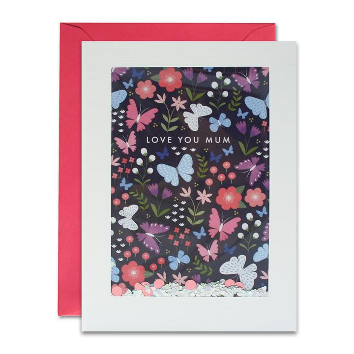 Mothers Day Butterflies Shakies Card