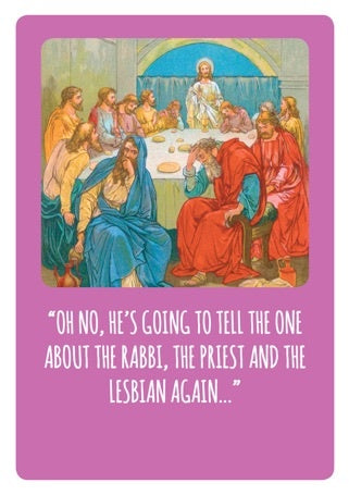 The One About Bible Stories Card
