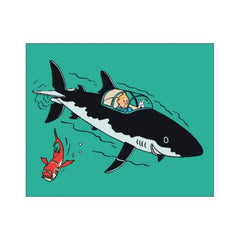 Tintin Shark Throw
