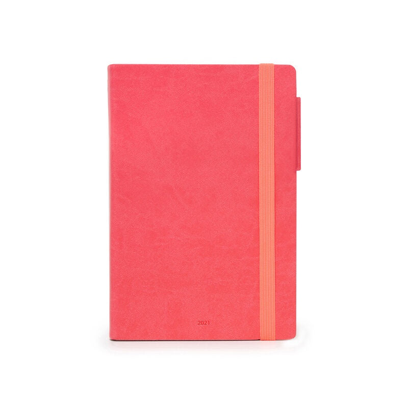 Medium Weekly Diary 2021 Neon Coral