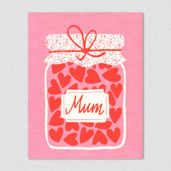 Jam Jar Mother's Day Card