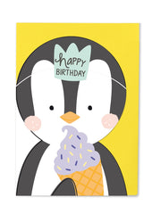 Happy Birthday Penguin Cut Out Card