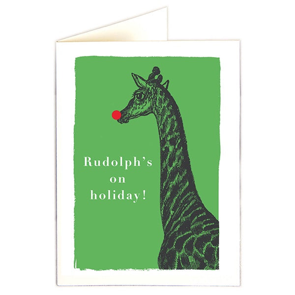 Rudolph's On Holiday Pack of 5 Cards