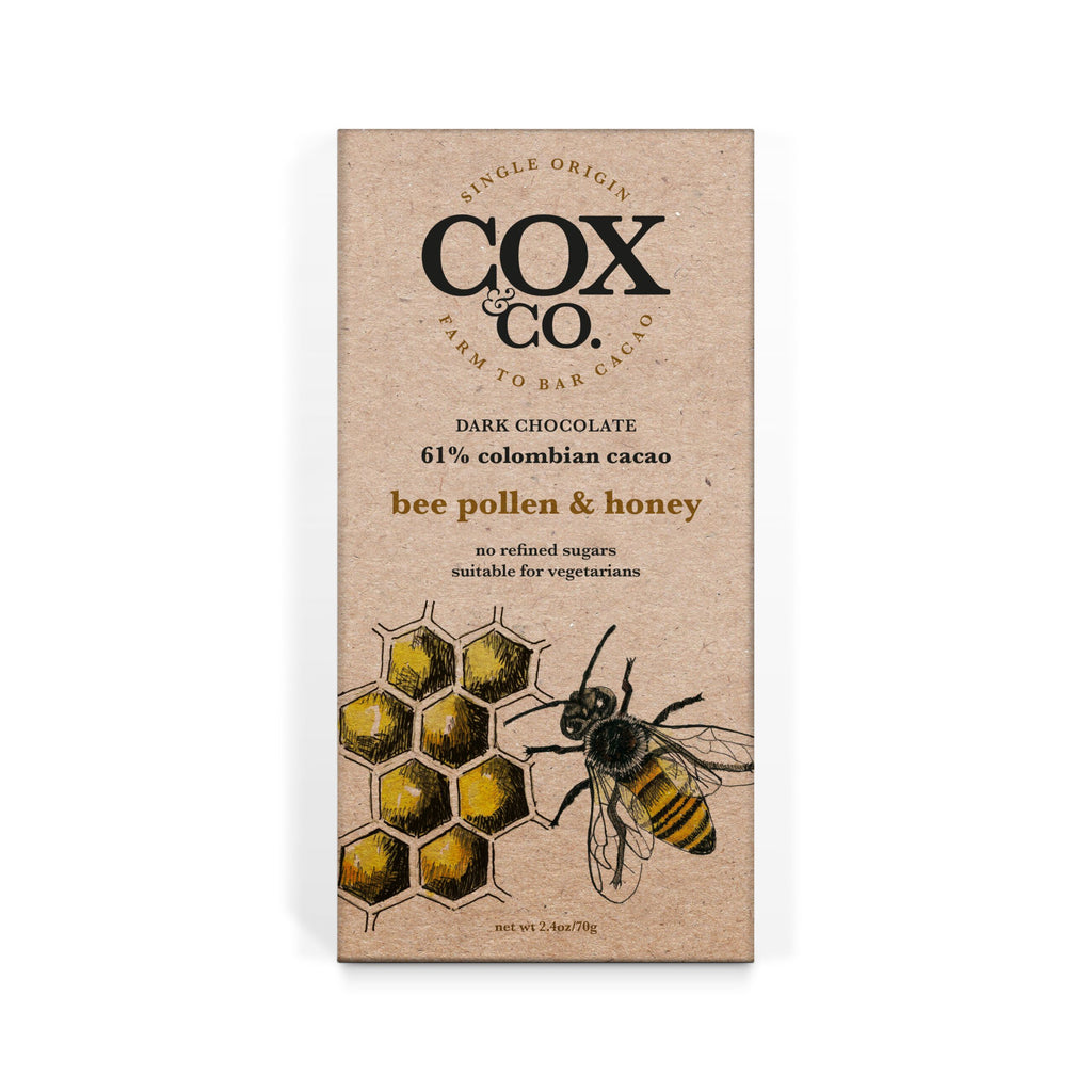 Cox and Co Bee Pollen and Honey Chocolate Bar 70g