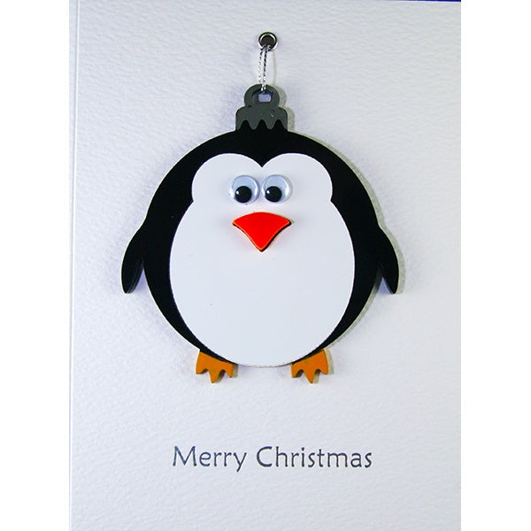 Penguin Bauble Christmas Card