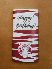 Rhubarb Milk Chocolate Personalised Happy Birthday