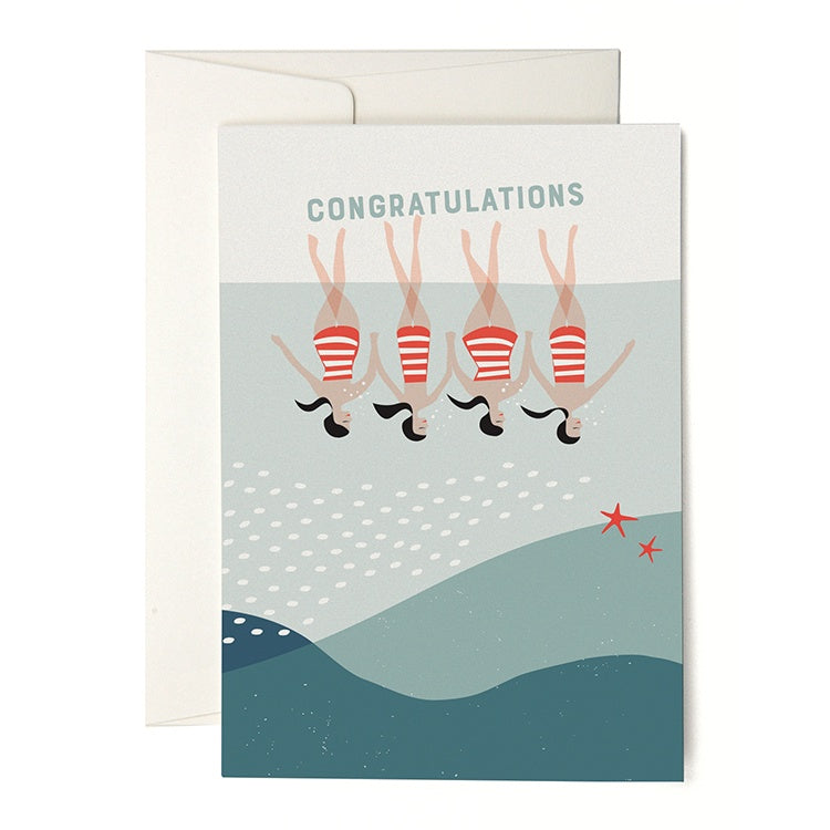 Synchronised Swimming Congratulations Card