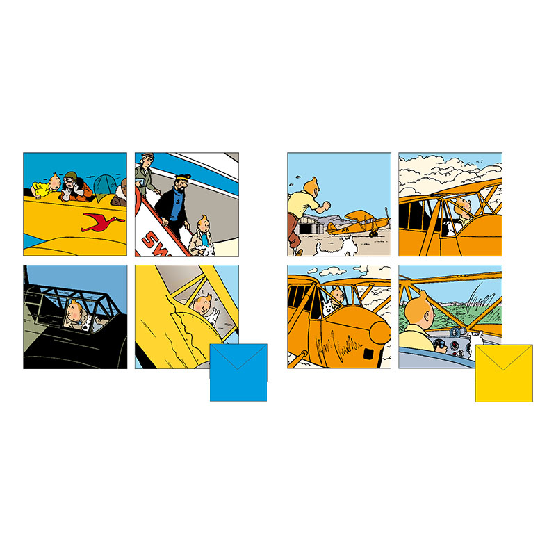 Tintin Plane Greetings  Card
