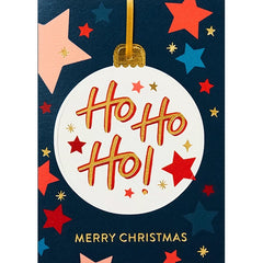 Ho Ho Ho Bauble Christmas Card