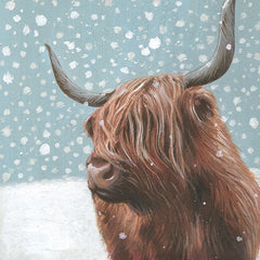 Highland Cow in Snow Pack of 6 Charity Cards