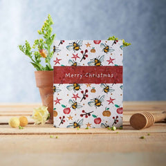 Merry Christmas Bees Seed Card