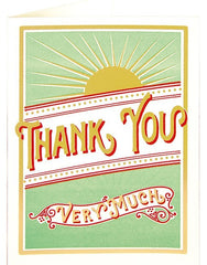 Thank You Card - Starburst