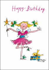 Pretty Ballerina Quentin Blake Birthday Card