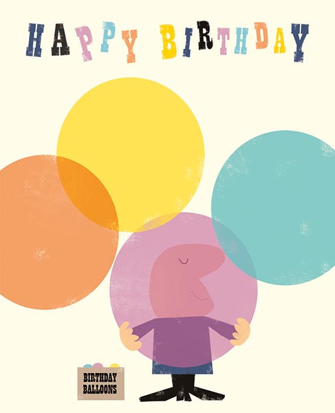 Birthday Balloons Happy Birthday Card
