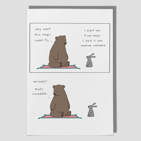 Magic Carpet Liz Climo Card