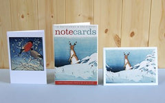 Hare and Bullfinches pack of 10 Notecards