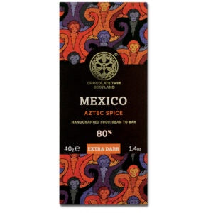 Bean To Bar Extra Dark 80% Mexico Aztec Spice Nibs 40g