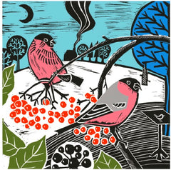 Bullfinches and Berries Christmas Fayre Pack of 8 Cards