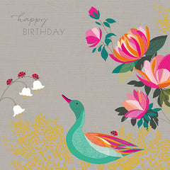 Happy Birthday Duck and Coronet Card