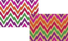 Pack of 8 Bright Zigzag Blank Notecards