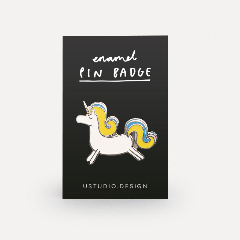 Prancing Unicorn Pin Badge