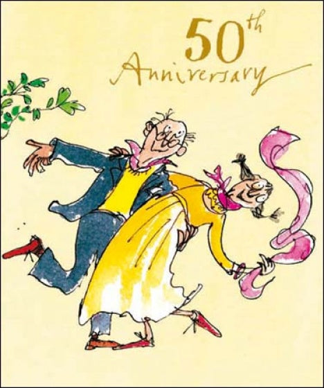 Whirlwind Romance Quentin Blake 50th Anniversary Card