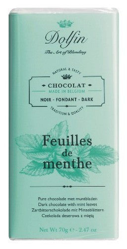 Dolfin Dark Chocolate With Mint Leaves