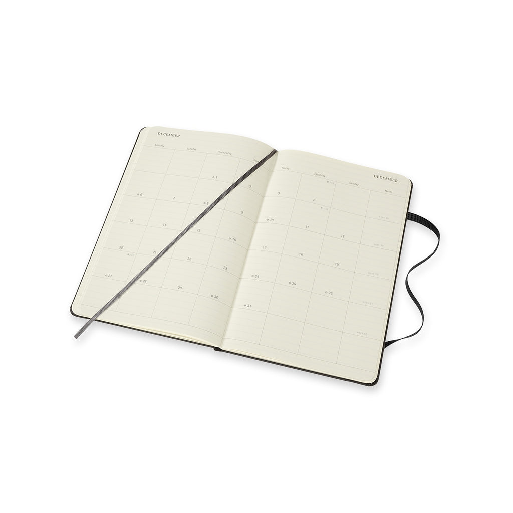 Moleskine 2021 Large Monthly Planner Softcover Black