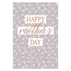 Mother's Day Pink Hearts Card