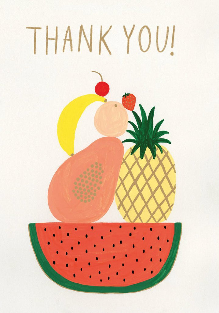 Five Fruits Thank You Card