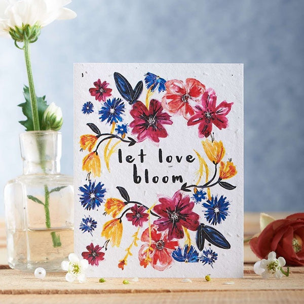 Let Love Bloom Seed Card