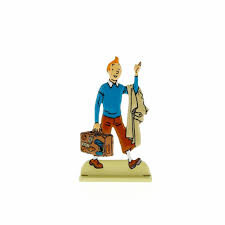 Tintin Metal Relief with Suitcase