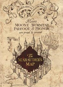 Marauder's Map Harry Potter Card