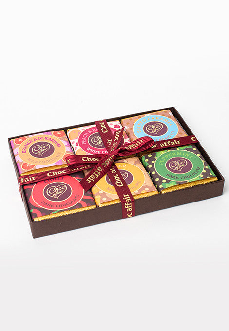 Gift Box of 6 Chocolate Bars
