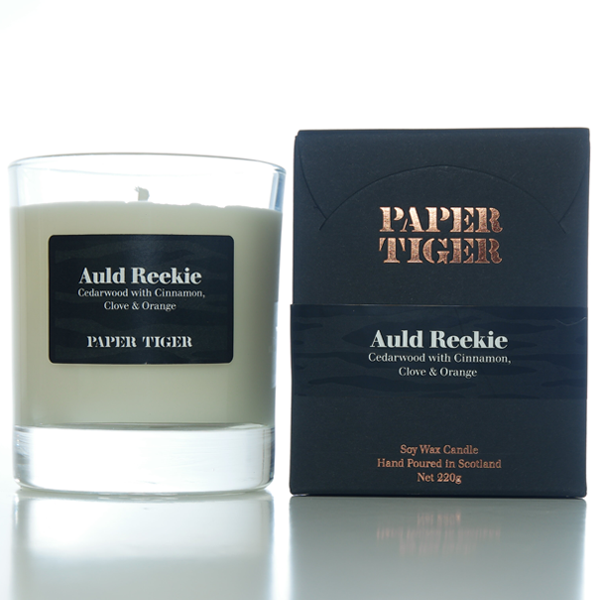 Paper Tiger Auld Reekie Cedarwood, Cinnamon, Cloves & Orange Large Candle