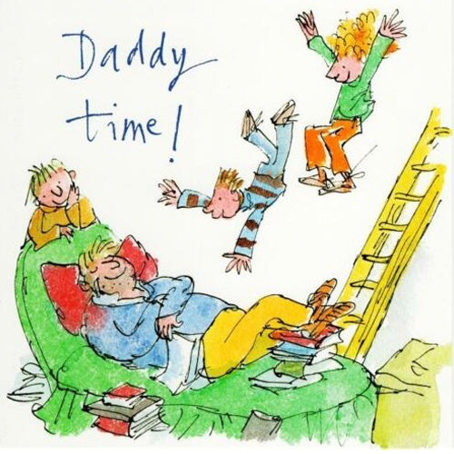 Daddy Time Father's Day Card White